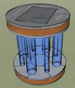 Solarleuchte SketchupMake Entwurf